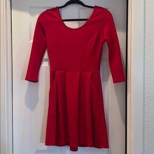 Cute, basic red dress!